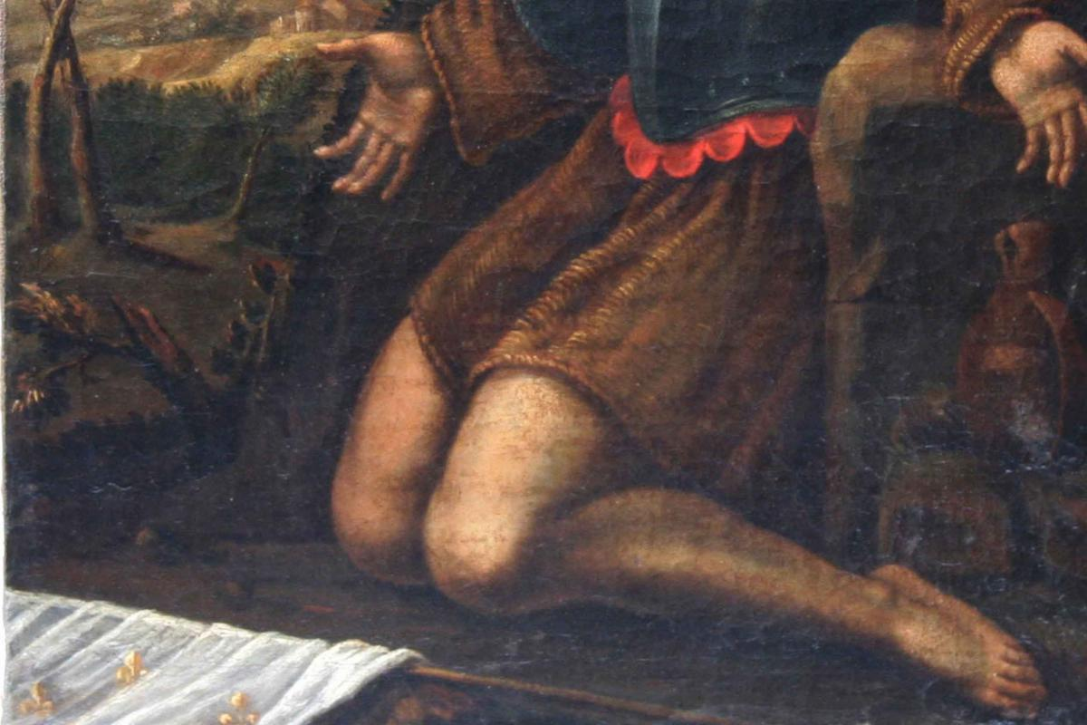 In Saint Prayer,17th Century, Oil On Canvas-photo-3
