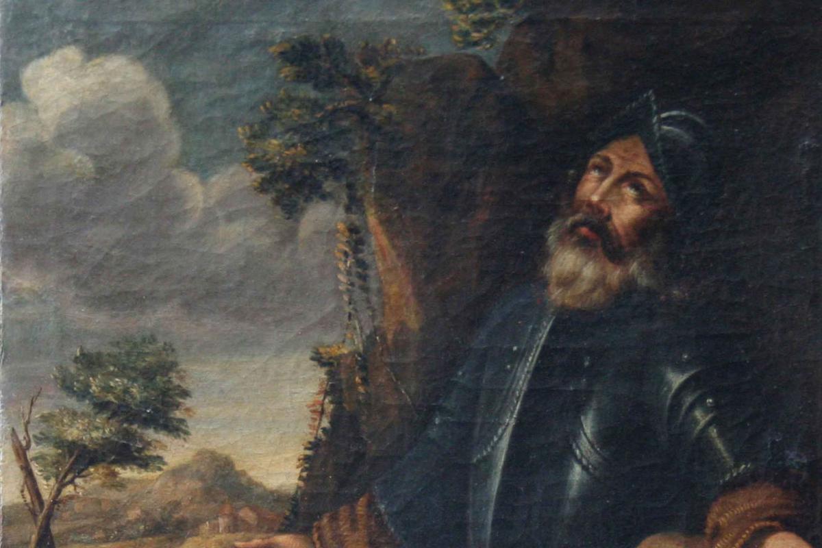 In Saint Prayer,17th Century, Oil On Canvas-photo-4