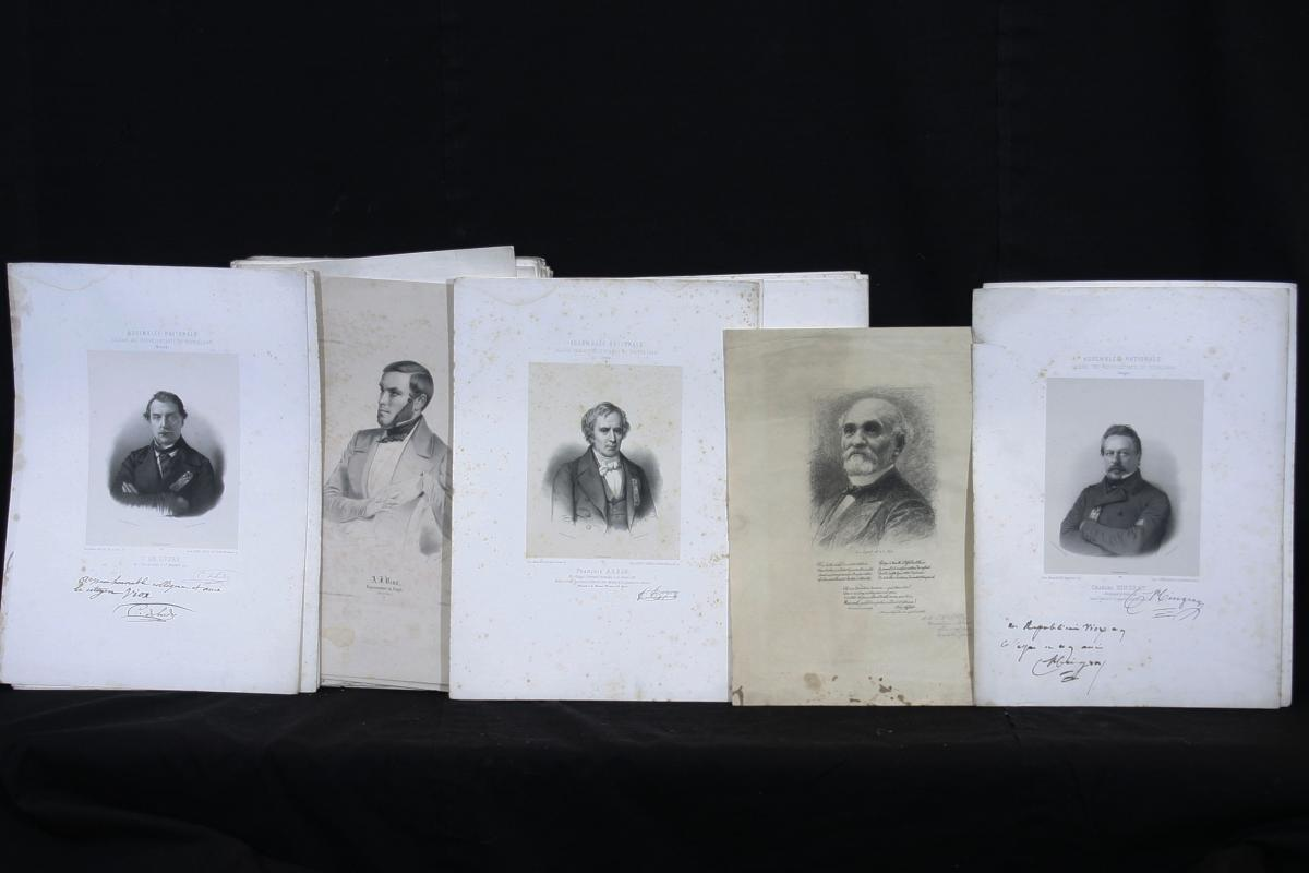 """""""members Of The Provisional Government"""" + 64 Litho National Assembly 1848"""