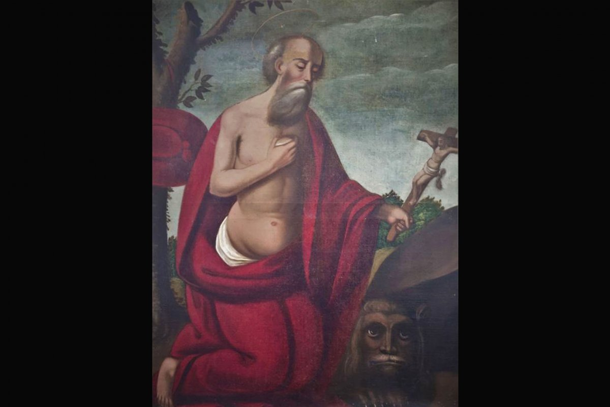 Huile Sur Toile, XVIIème, Saint Jérôme