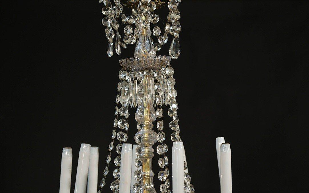 Lustre à Pampilles 9 Lampes, XIXème-photo-4