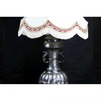 Grande Lampe Chinoise En Bronze
