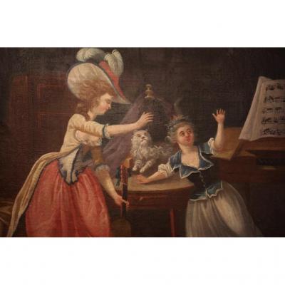 Huile Sur Toile XVIII, Leçon De Musique
