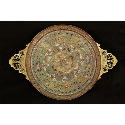 Plat Cloisonné, Origine Syrienne, XIXème