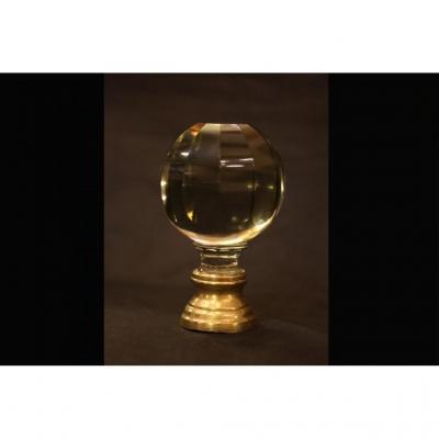 Boule d'Escalier En Cristal XIXème Siècle