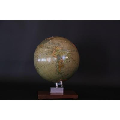 Globe Terrestre, 1960, Berolina, Poilitischer, Erdglobus