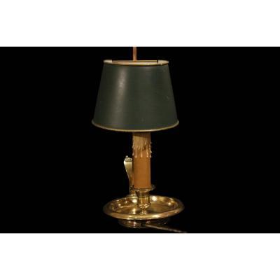 Lampe Bouillotte, Une Lampe, Laiton, Tôle Peinte, XIXème