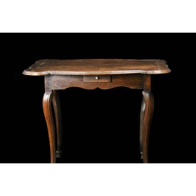 Table à Jeux Quadrilobée d'époque Louis XV