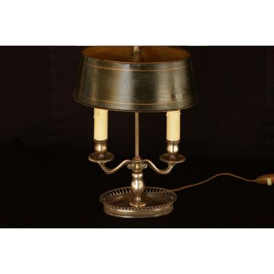 Kettle Lamp Silver Bronze, Two Lamps Nineteenth