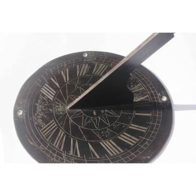Cadran Solaire De Table, Bronze, Début XVIIIème Siècle