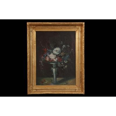 Nature Morte XXème, Bouquet De Fleurs, René Margotton