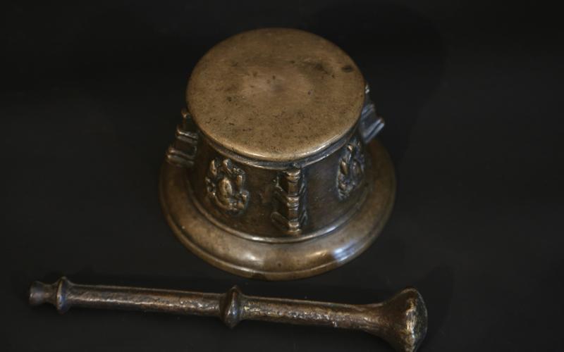 17th Century Mortar, Bronze-photo-3