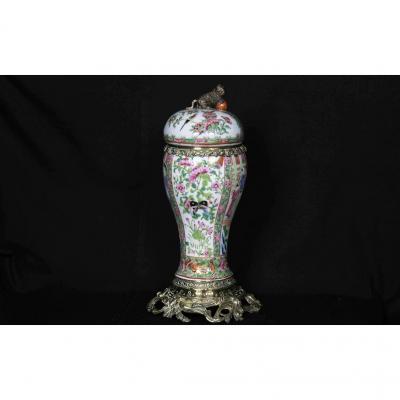 Vase Couvert Canton, XIXème