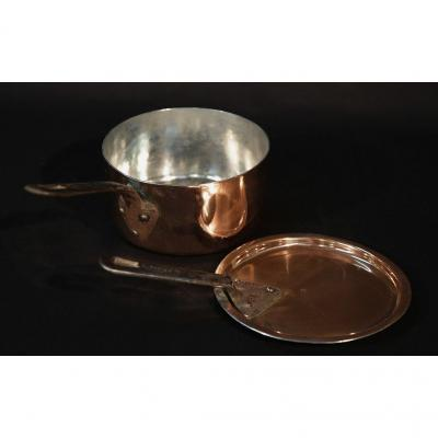 Tinned Copper Saucepan, Perfect Condition N ° 15