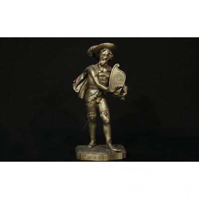 Bronze à Patine Dorée,