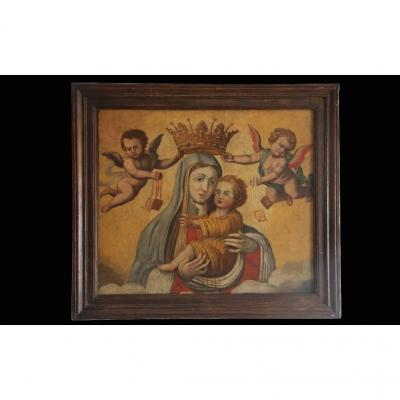 Vierge à l'Enfant Couronnée, XVIème Siècle
