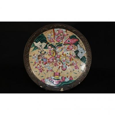 Nankin Dish, Nineteenth, Battle Scene