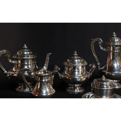 Tea And Coffee Service In Sterling Silver