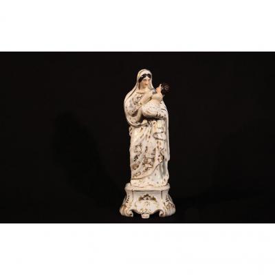Vierge à l'Enfant, Porcelaine Vieux Paris