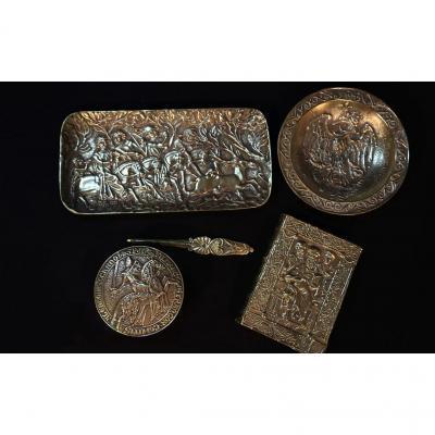 Nécessaire De Bureau Le Verrier, Bronze