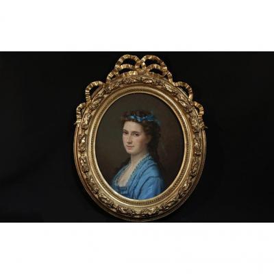 Pastel, Portrait Mme De Beck Par Marcellin De Groiseilliez