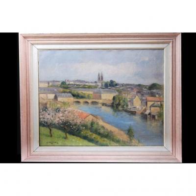 Georges Frederic Morvan, Paysage, Fin XIXème