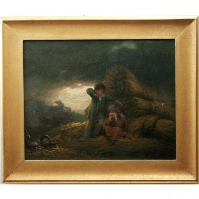 Huile Sur Toile, Jules-marc Chamerlat (1828-1868)