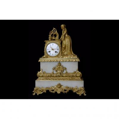 Bronze Gold And Marble Clock