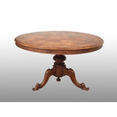 Old English Victorian Table From The 19th Century.