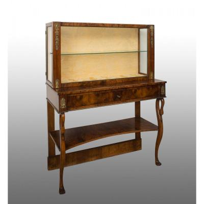 Showcase Empire Neapolitan In Heather Walnut From The End Of The 19th Century.