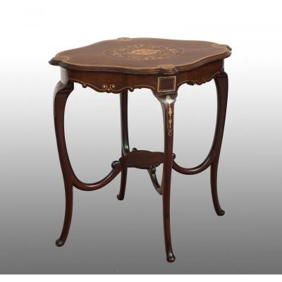 Small Old English Table From The 19th Century.