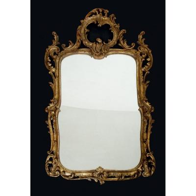Antique Louis XV Style Mirror Early 20th Century.