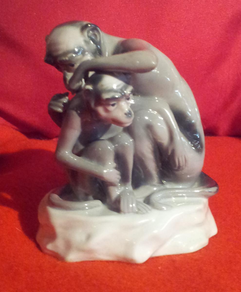 Porcelaine Vienne (singe)
