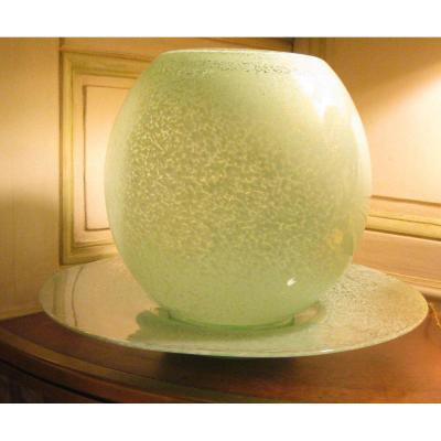 ART DECO (Vase et coupe en verre)