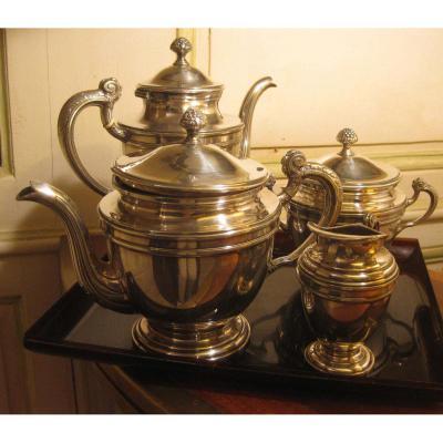 Service café et thé métal argenté