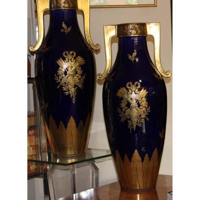 Paire De Vases (manufacture De Tours)