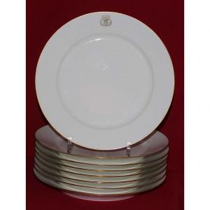 Sevres XIXe Siècle  (8 Assiettes Porcelaine)