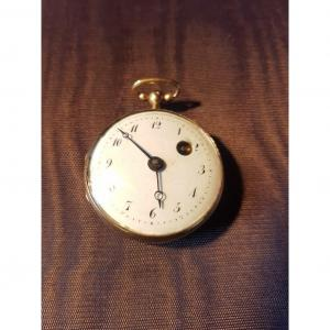 18k Gold Rooster Pocket Watch Signed By Virginio Girard - 18th Century