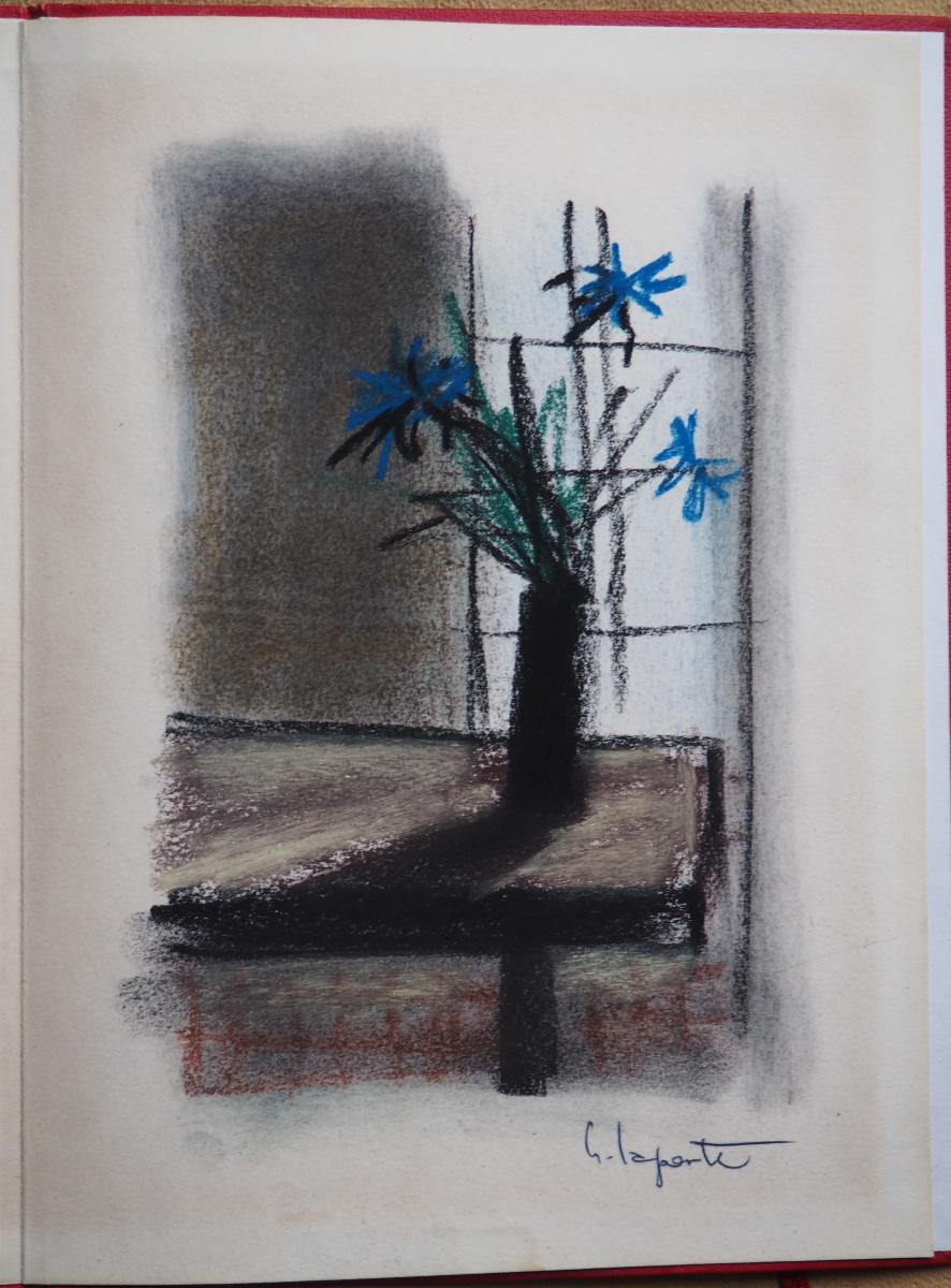 Fleurs Par Georges Laporte. Pastel