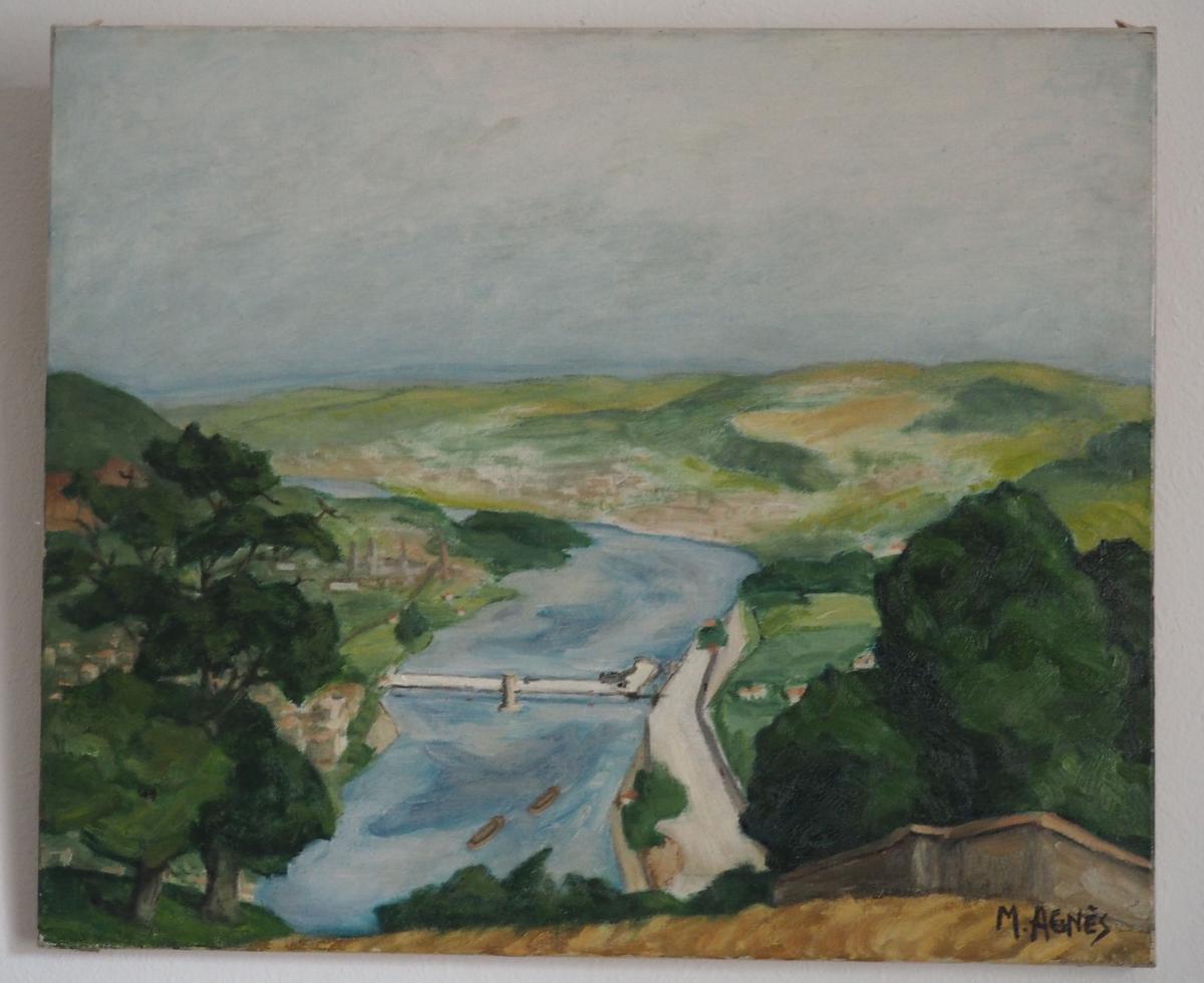 Agnes M, Paysage au pont