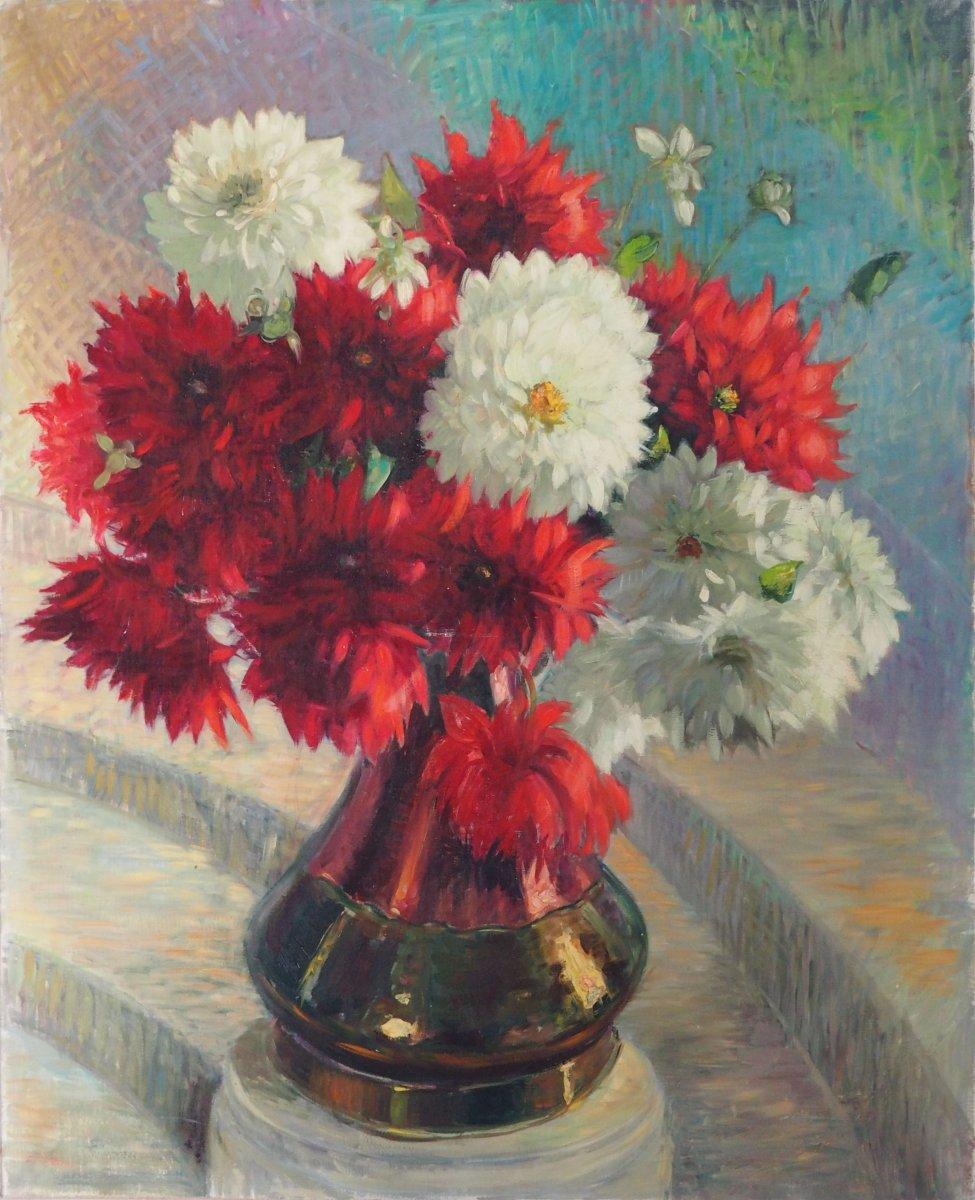 Grand Bouquet,  Dahlias, Cathala Mongoin