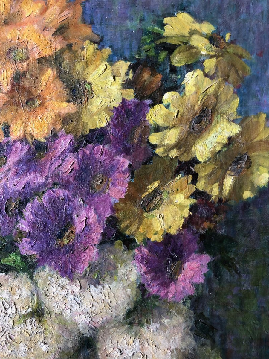 Composition With Vase Of Flowers.-photo-4
