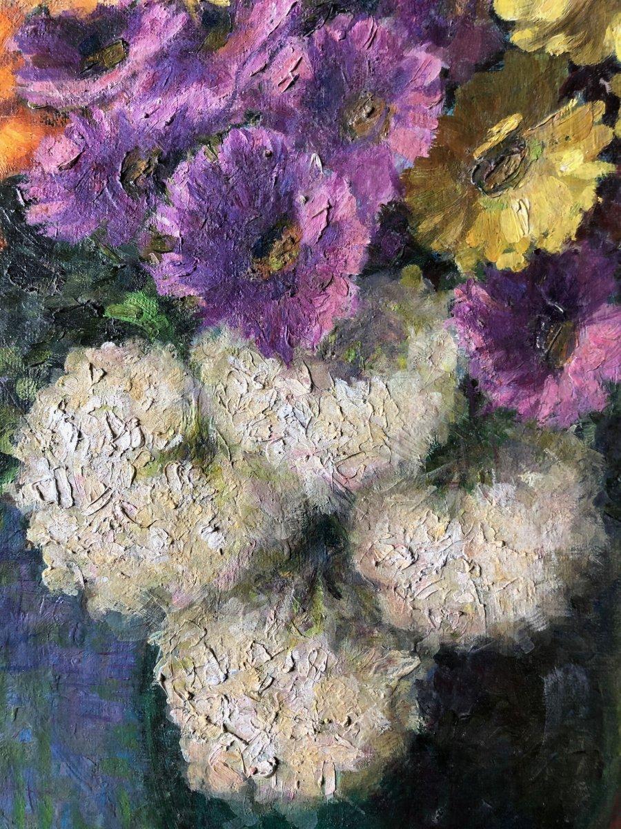 Composition au vase de fleurs.-photo-3