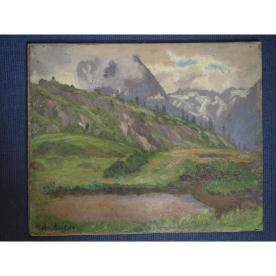 Andrieux Alfred (1879-1945),  Vallorcine, Haute Savoie.