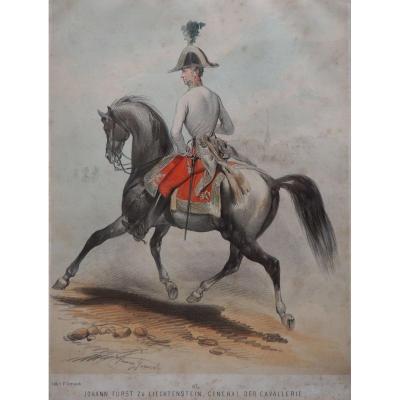 Franz Gerasch (1826-1893) , Général De Cavalerie, J. Furst Von Liechtenstein, Autriche, fin XVIIIme siècle.