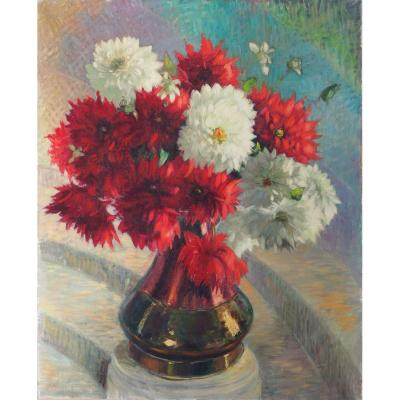 Large Bouquet, Dahlias, Cathala Mongoin
