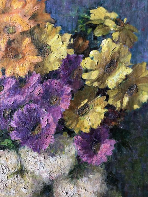 Composition au vase de fleurs.-photo-4