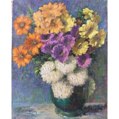 Composition With Vase Of Flowers.