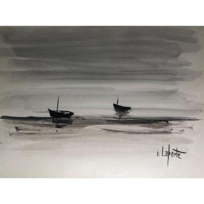 The Boats By Georges Laporte, Circa 1960.