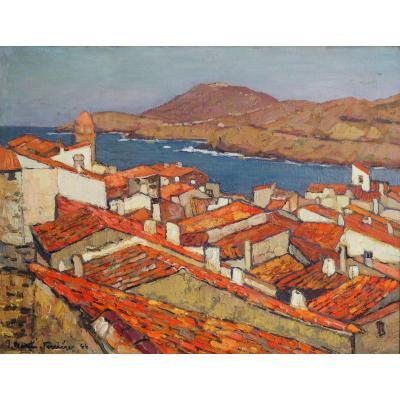 Collioure,  par Martin-Ferrières (1893-1972)